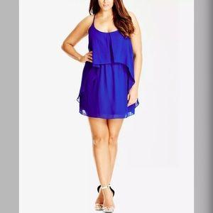 City Chic Cobalt Blue Tunic Dress